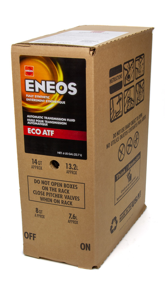 Eneos 3103-400 Transmission Fluid, ECO ATF, Synthetic, 6 gal Box, Each