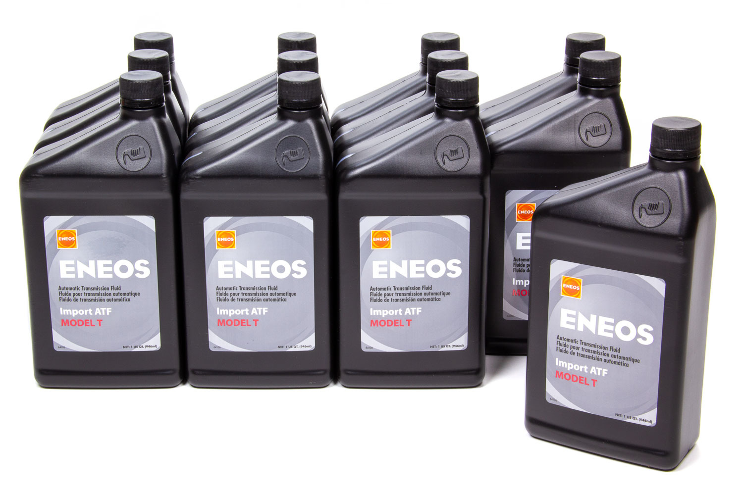 Eneos 3104-301 Transmission Fluid, Import ATF, Model T, Synthetic, 1 qt Bottle, Toyota, Set of 12