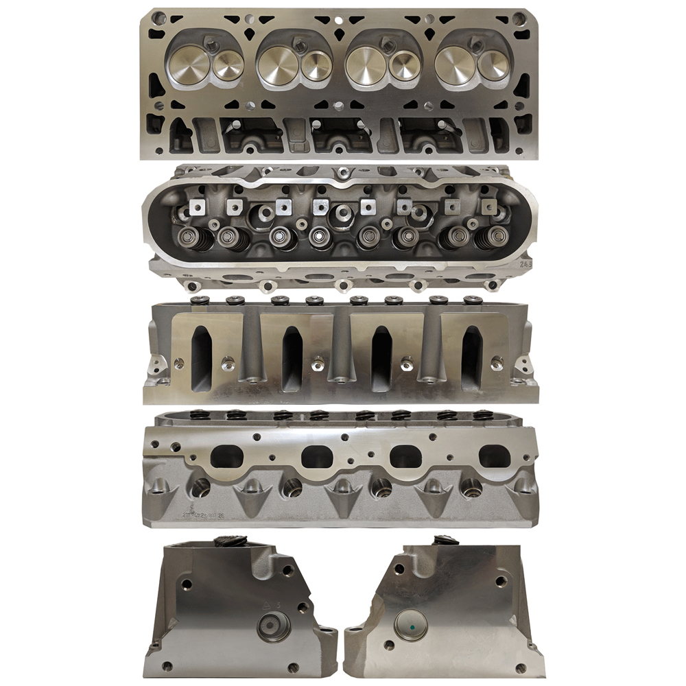 Enginequest EQ-CH364BA Cylinder Head, Assembled, 2.000 in/1.570 in Valves, 211 cc Intake, 65 cc Chamber, Aluminum, GM LS-Series, Each