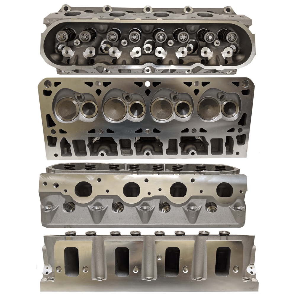 Enginequest EQ-CH364CA Cylinder Head, Assembled, 2.165 in/1.590 in Valves, 258 cc Intake, 69 cc Chamber, Aluminum, GM LS-Series, Each