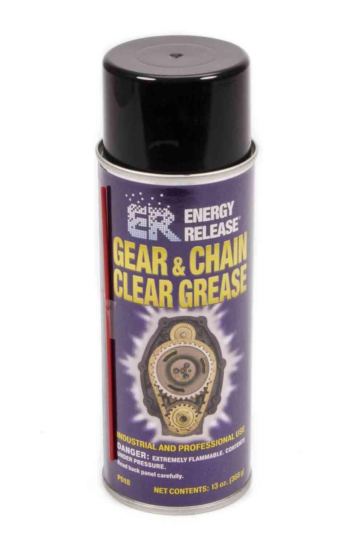 Energy Release P018 Spray Lubricant, Clear Gear and Chain, 13.00 oz Aerosol, Each