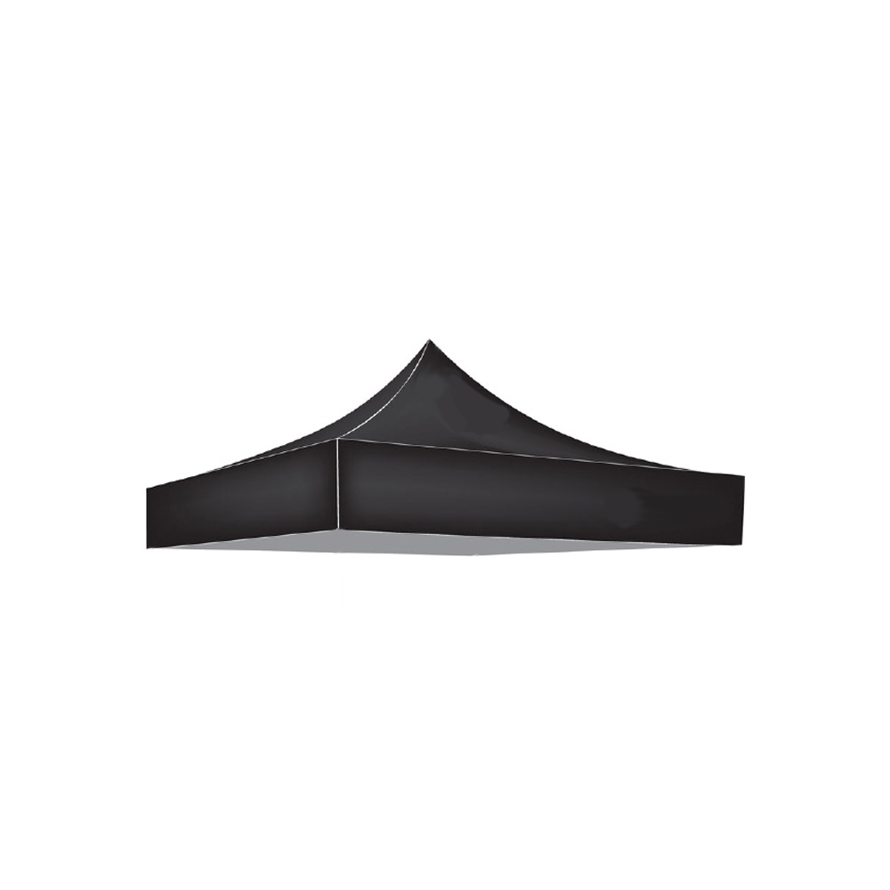 Factory Canopies 10001 Canopy Top, Pro Grade, 10 x 10 ft, Fire / Water Resistant Fabric, Black, Each