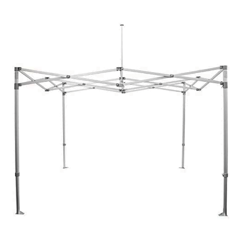 Factory Canopies 20001 Canopy Frame, Pro Grade, 10 x 10 ft, Aluminum, White Anodize, Each