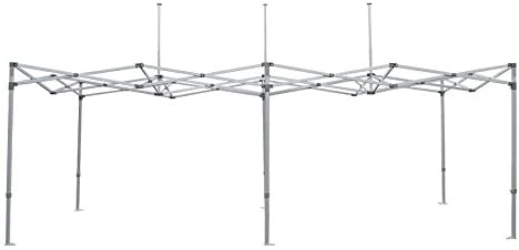 Factory Canopies 20021 Canopy Frame, Pro Grade, 10 x 20 ft, Aluminum, White Anodize, Each