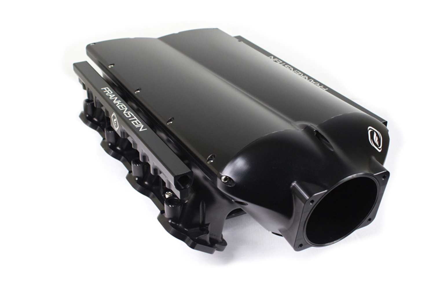 Frankenstein Engine Dynamics 217001-BLK Intake Manifold, LowPro, Fuel Rails Included, Aluminum, Black Anodize, LS7, GM LS-Series, Kit
