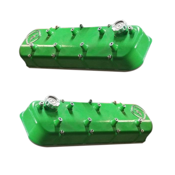 Frankenstein Engine Dynamics 916088 Valve Cover, F-Series, Coil Mounts, Aluminum, Green Powder Coat, GM LS-Series, Pair