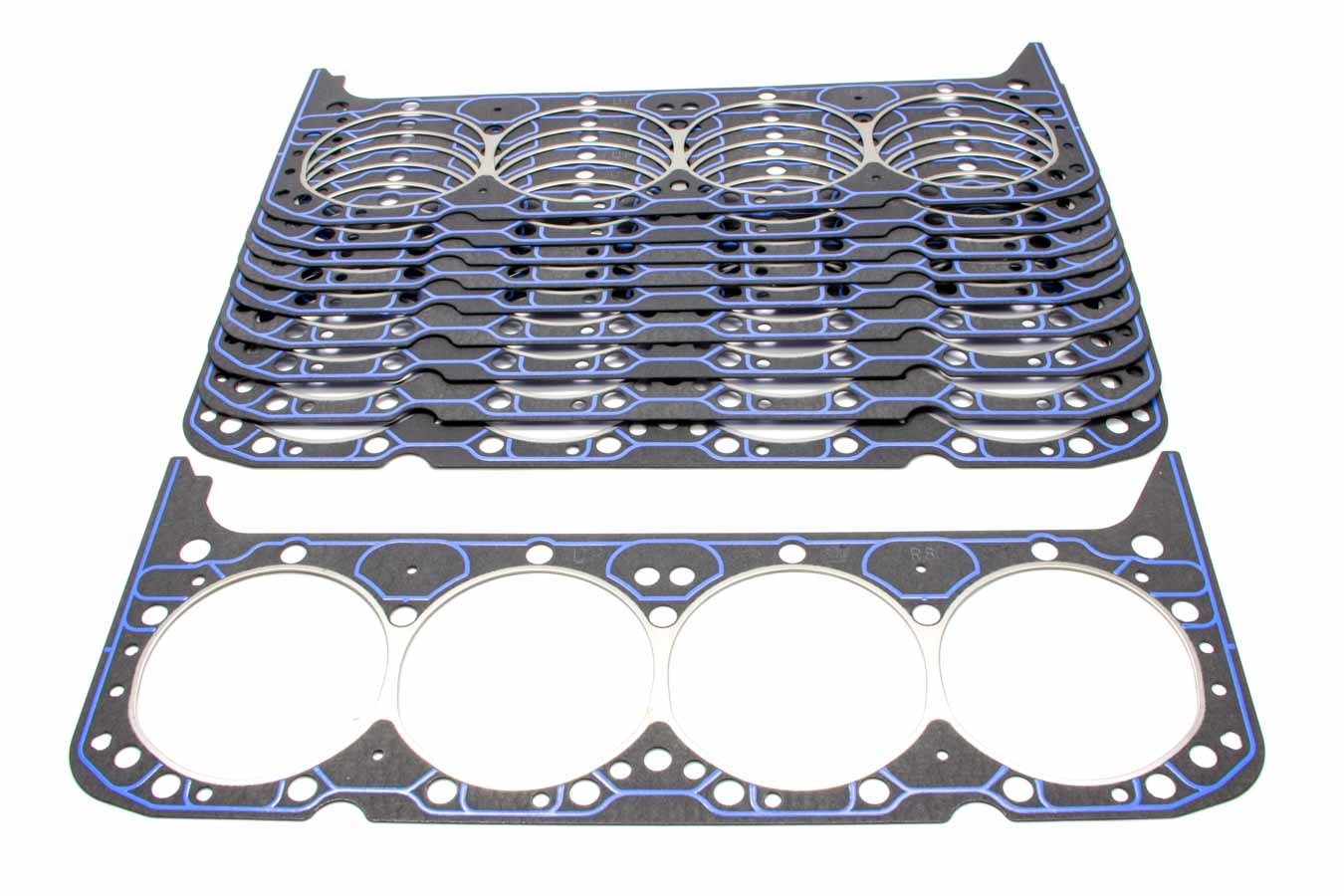 Fel-Pro 1003B Cylinder Head Gasket, 4.166 in Bore, 0.041 in Compression Thickness, Steel Core Laminate, Small Block Chevy, Set of 10