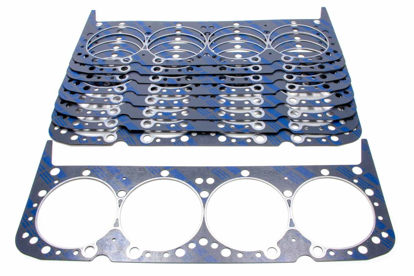 Fel-Pro 1004B Cylinder Head Gasket, 4.190 in Bore, 0.041 in Compression Thickness, Steel Core Laminate, Small Block Chevy, Set of 10