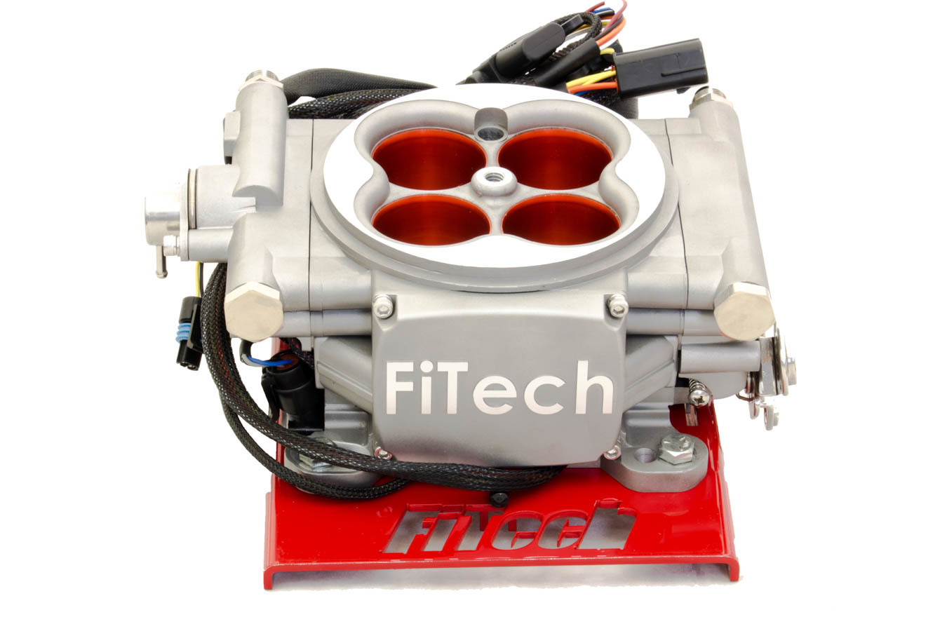 Fitech Fuel Injection 30003 Fuel Injection, Go Street EFI, Throttle Body, Square Bore, 55 lb/hr Injectors, Aluminum, Polished, Universal, Kit