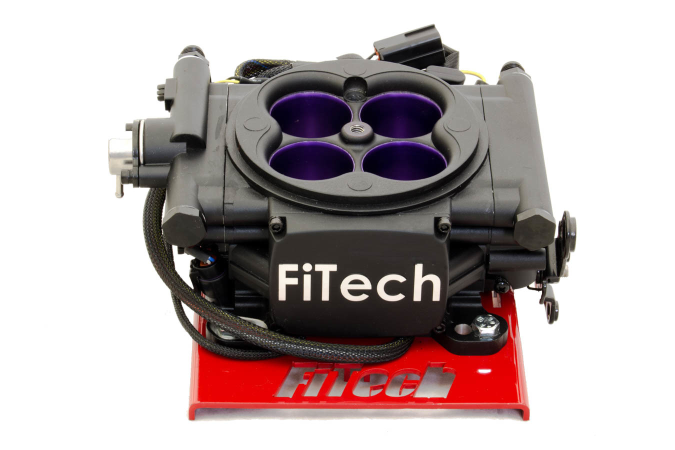 Fitech Fuel Injection 30008 Fuel Injection, MeanStreet, Throttle Body, Square Bore, 55 lb/hr Injectors, Aluminum, Black Anodize, Universal, Kit