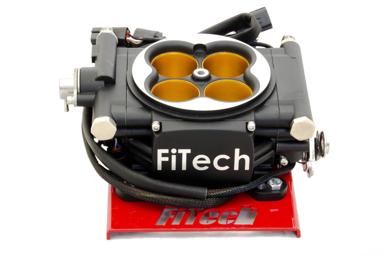 Fitech Fuel Injection 30012 Fuel Injection, Go EFI 8 Power Adder, Throttle Body, Square Bore, 70 lb/hr Injectors, Nitrous Control, Aluminum, Black Anodize, Universal, Kit