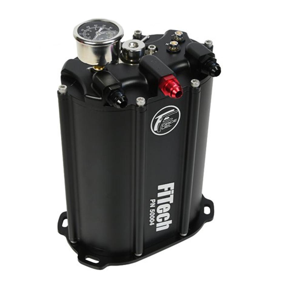 Fitech Fuel Injection 50004 Fuel Pump, Force Fuel System, 90 gph, 340 lph, 58 PSI, Aluminum, Black Anodize, Universal, Kit