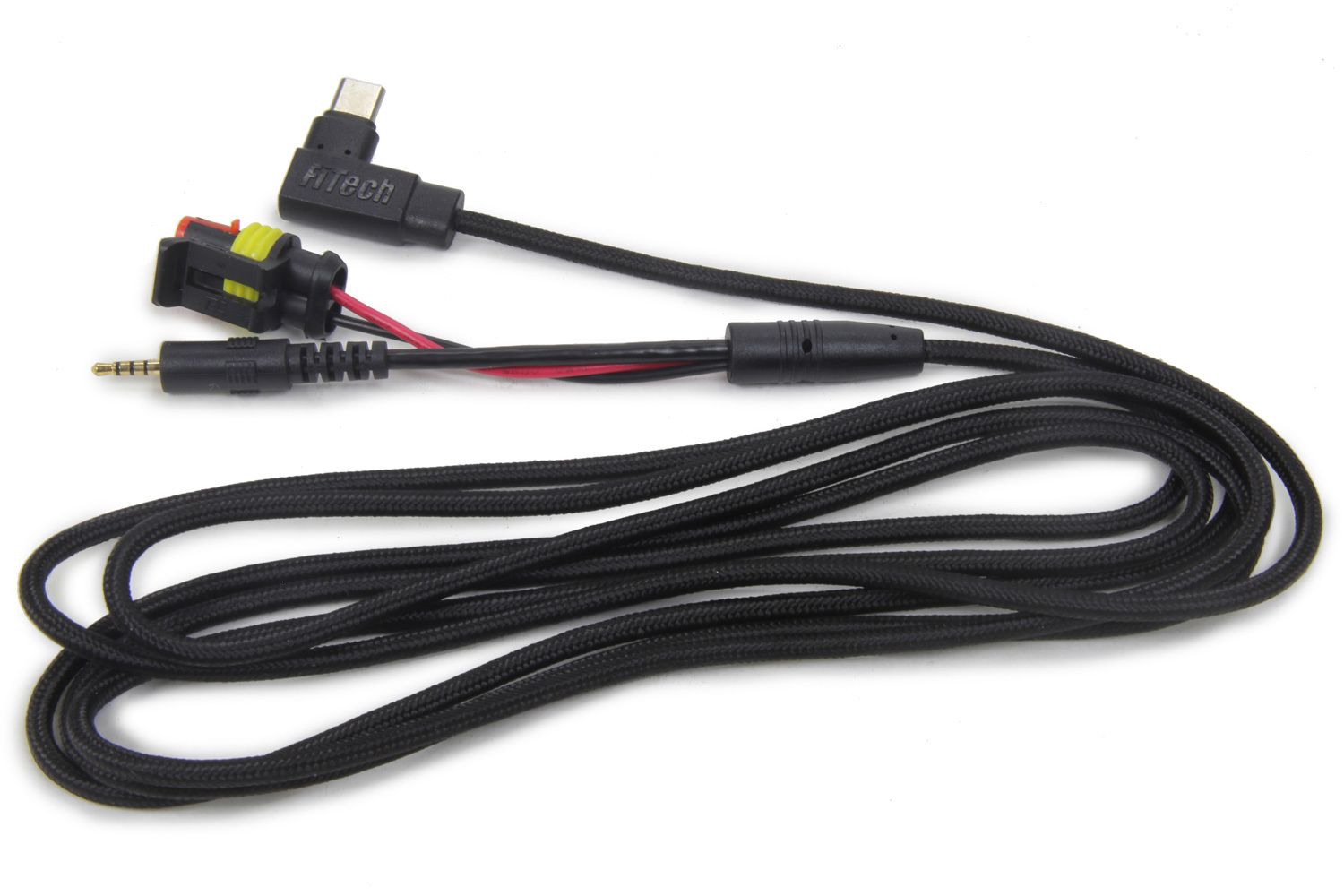 FiTech Fuel Injection 62015 Data Cable, Transmission Controller Cable, Rubber Coated, Black, Kit