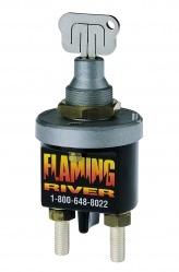 Flaming River FR1009 Battery Disconnect, Big Switch, Laser Cut Key Switch, Panel Mount, 250 amp, 12-24V, Kit