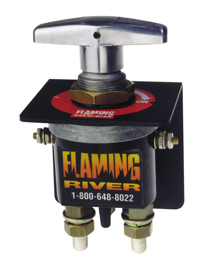 Flaming River FR1010 Battery Disconnect, Battery / Magneto, Rotary Switch, Panel Mount, 250 amp, Bracket, 12-24V, Kit