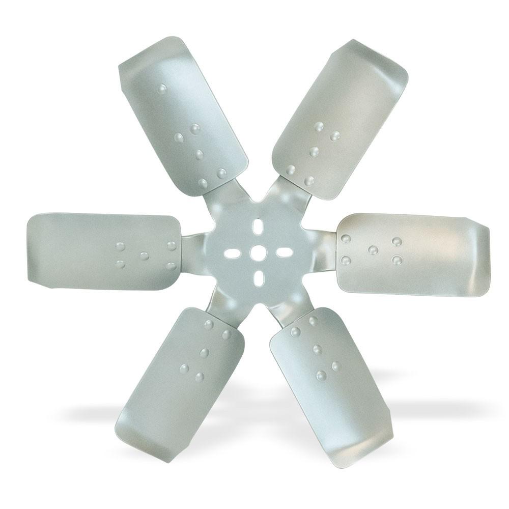 Flex-A-Lite 101353 Mechanical Cooling Fan, Race Fan, 18 in Fan, 6 Blade, 5/8 in Pilot, 1-3/4 to 2-1/2 in Bolt Pattern, Steel Hub / Stainless Blades, Silver / Natural, Each