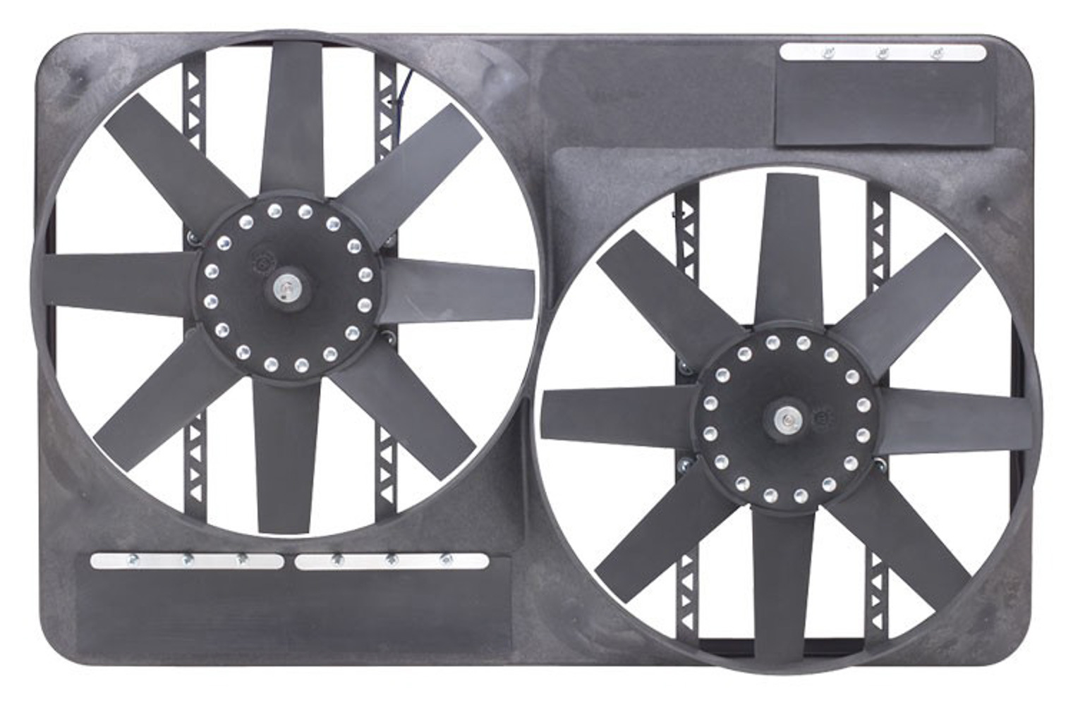 Flex-A-Lite 104242 Electric Cooling Fan, Dual 13.5 in Fan, Puller, 4600 CFM, 12V, Straight Blade, Controller, Plastic, 27-1/2 x 17-1/2 in, 4 in Thick, Plastic, Each