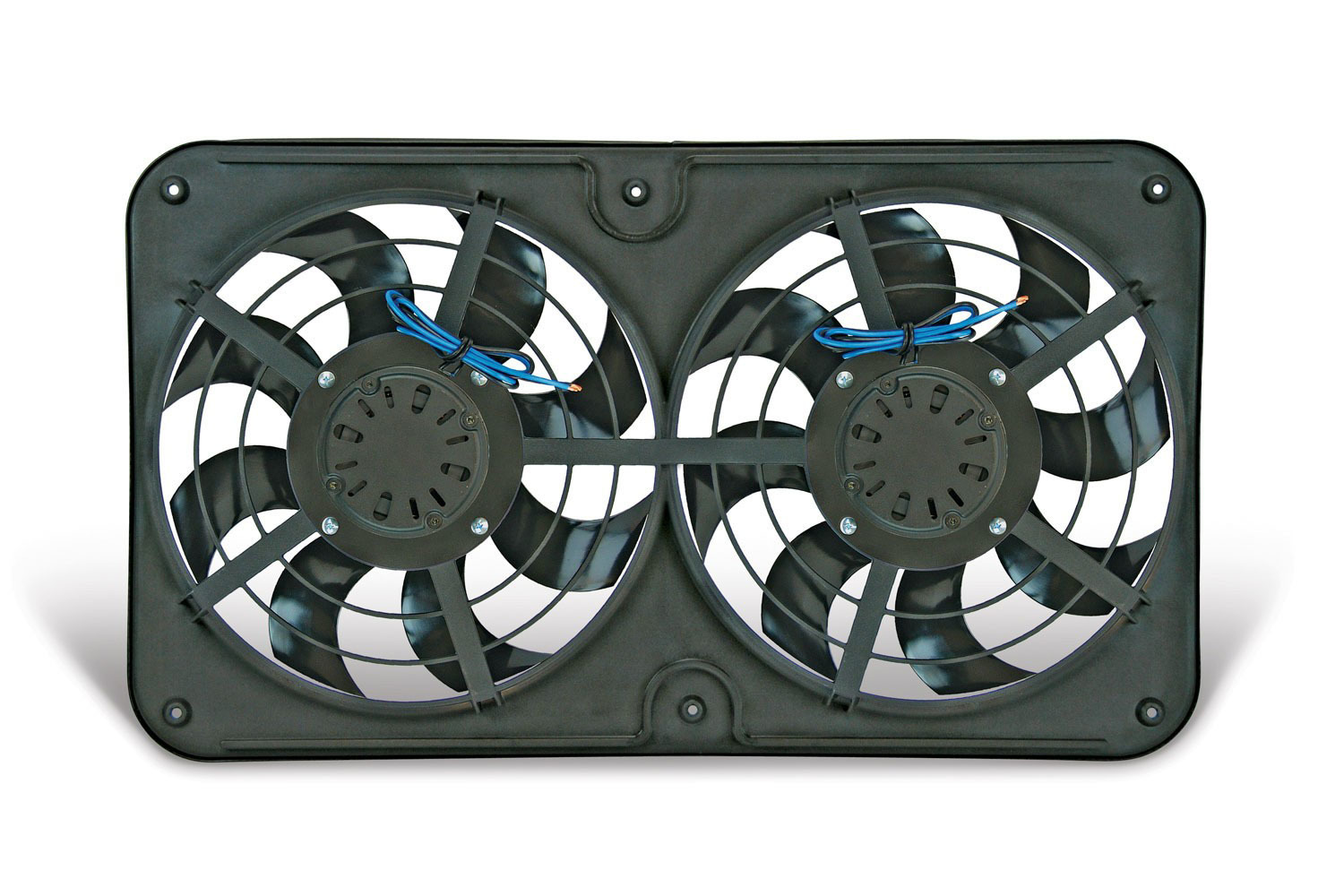 Flex-A-Lite 104350 Electric Cooling Fan, X-Treme S-Blade, Dual 12-1/8 in Fan, Push / Pull, 3000 CFM, 12V, Curved Blade, 26-1/4 x 15-1/2 in, 4 in Thick, Controller, Plastic, Kit