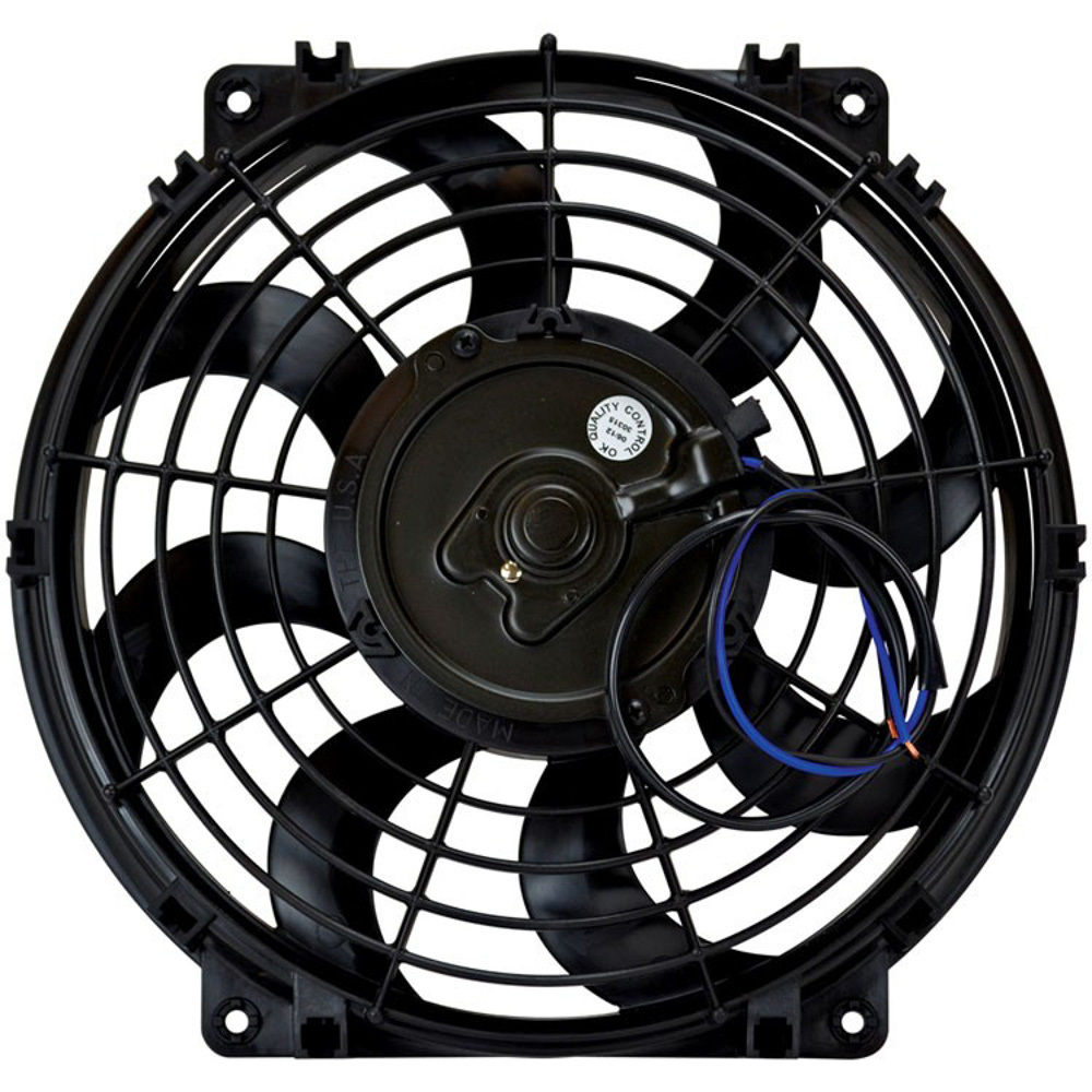 Flex-A-Lite 104359 Electric Cooling Fan, Black Magic S-Blade, 12 in Fan, Push / Pull, 925 CFM, 12V, Curved Blade, 12-5/8 x 11-3/4 in, 2-5/8 in Thick, Plastic, Each