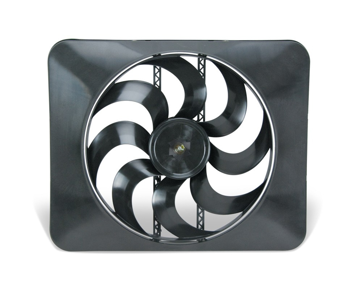 Flex-A-Lite 104367 Electric Cooling Fan, Black Magic Xtreme, 15 in Fan, Push / Pull, 3300 CFM, Curved Blade, 21-1/2 x 17-1/2 in, 4-3/16 in, Plastic, Each
