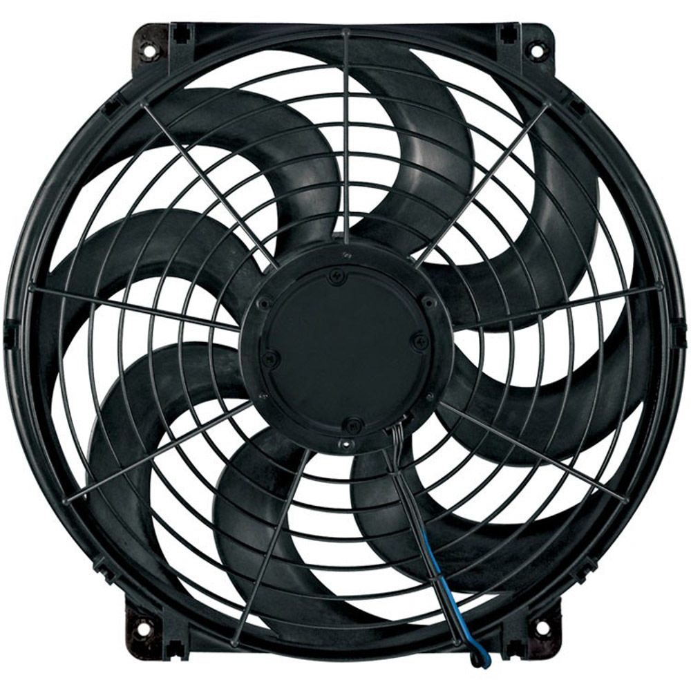 Flex-A-Lite 104637 Electric Cooling Fan, S-Blade, 16 in Fan, Push / Pull, 1980 CFM, Curved Blade, 15-3/4 x 16-5/8 in, 4 in Thick, Plastic, Each