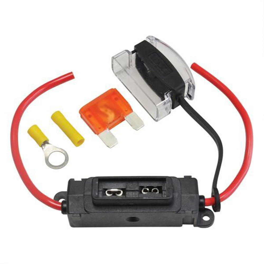 Flex-A-Lite 105098 Fuse Block, Single Circuit, In-Line, 40 Amp, Fuse Included, Kit