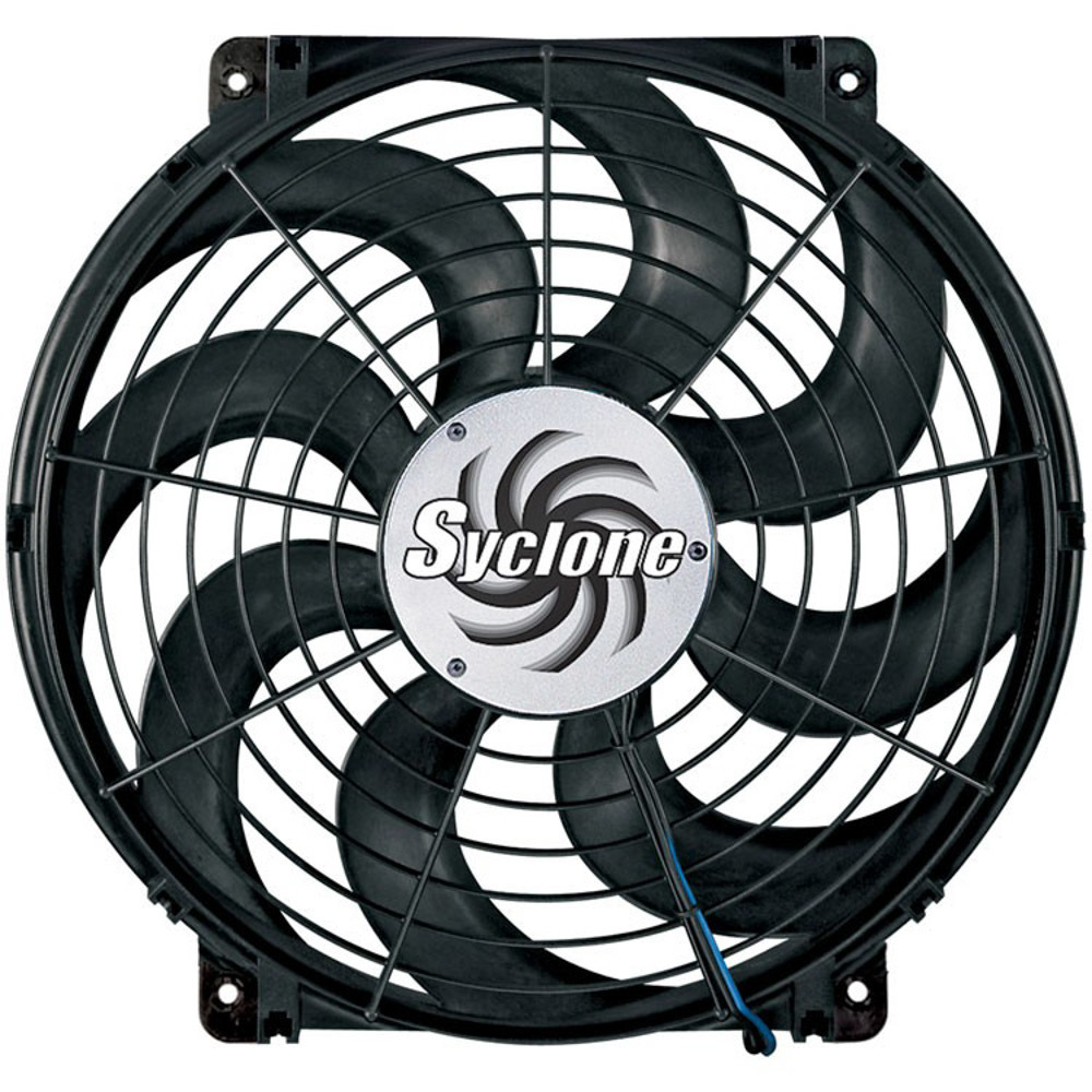 Flex-A-Lite 105317 Electric Cooling Fan, Syclone S-Blade, 16 in Fan, Push / Pull, 2500 CFM, 12V, Curved Blade, 15-3/4 x 16-5/8 in, 4 in Thick, Plastic, Each
