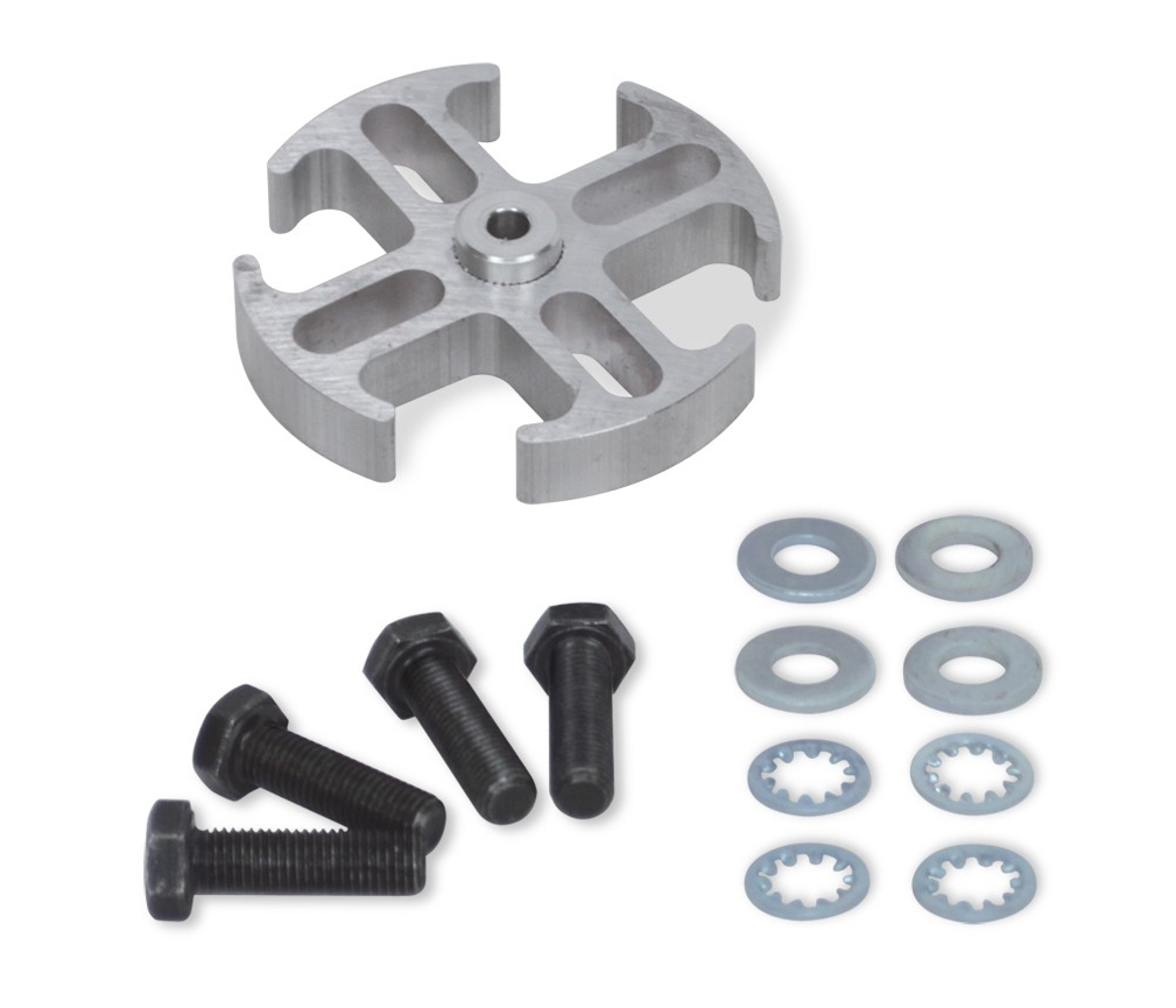 Flex-A-Lite 106786 Fan Spacer, 1/2 in Thick, Hardware Included, Aluminum, Natural, Ford / GM, Each