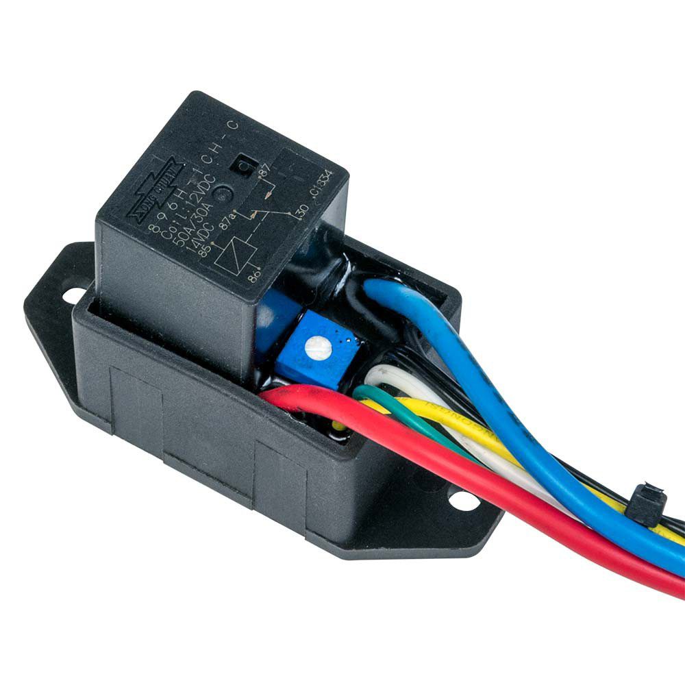 Flex-A-Lite 121280 Fan Controller, Adjustable, 160-220 Degree F Activation Range, Push-In Temperature Sensor, Harness, Kit