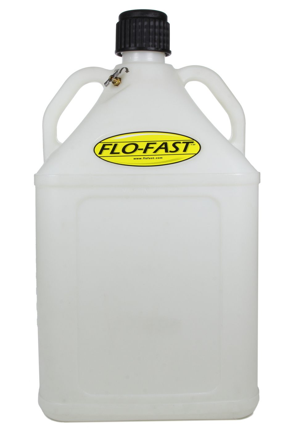 Flo-Fast 15503-N Utility Jug, 15 Gal, 15 x 15 x 28 in Tall, O-Ring Seal Cap, Bolt-In Vent, Square, Plastic, Natural, Each