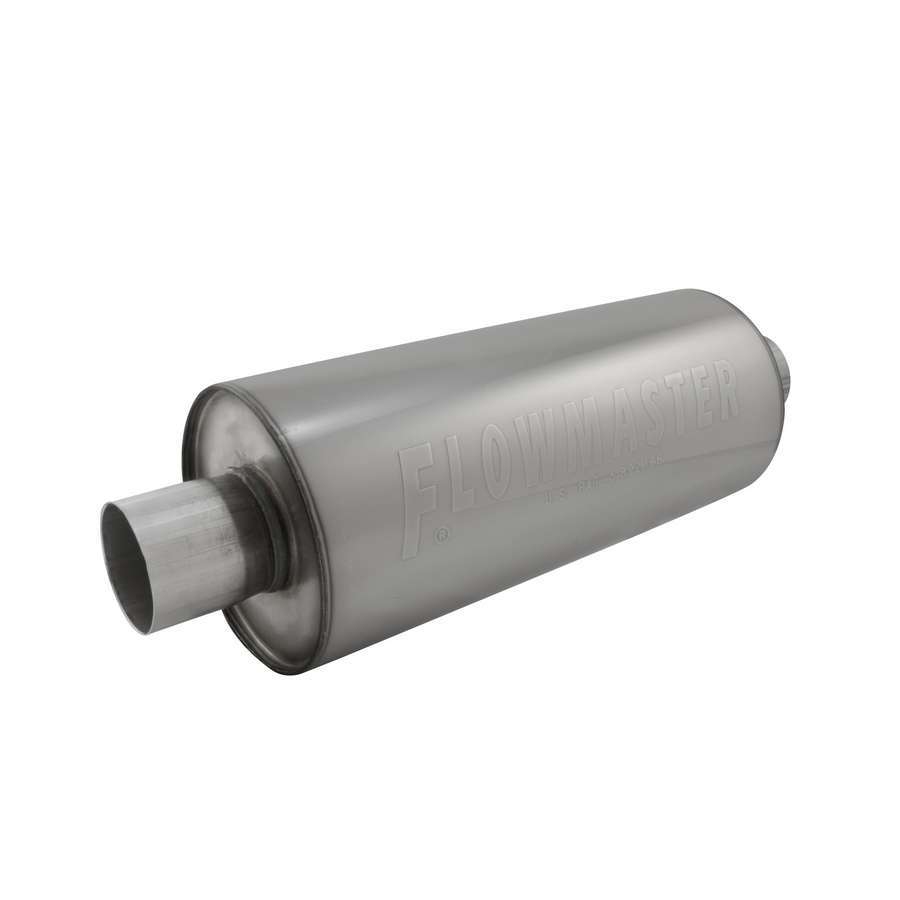 Flowmaster 13014310 Muffler, DBX, 3 in Center Inlet, 3 in Center Outlet, 6 in Round Body 14 in Long, Stainless, Universal, Each