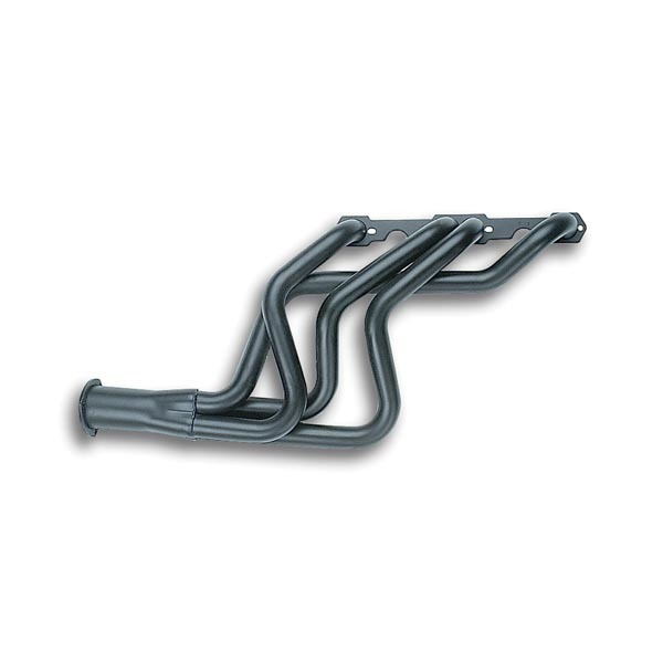 Flowtech 11100 Headers, Full Length, 1-5/8 in Primary, 3 in Collector, Steel, Black Paint, Small Block Chevy, GM A-Body / B-Body / F-Body / X-Body 1964-89, Kit