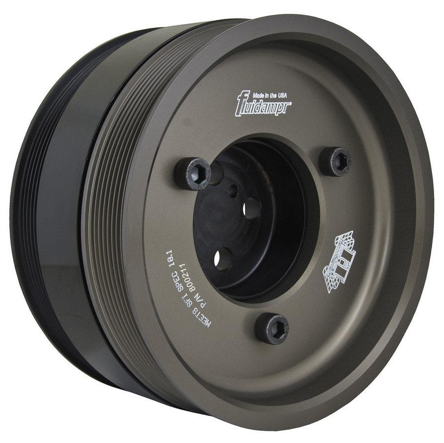 Fluidampr 800211 Harmonic Balancer, 8.000 in OD, Steel, Black, Internal Balance, Ford PowerStroke, Each
