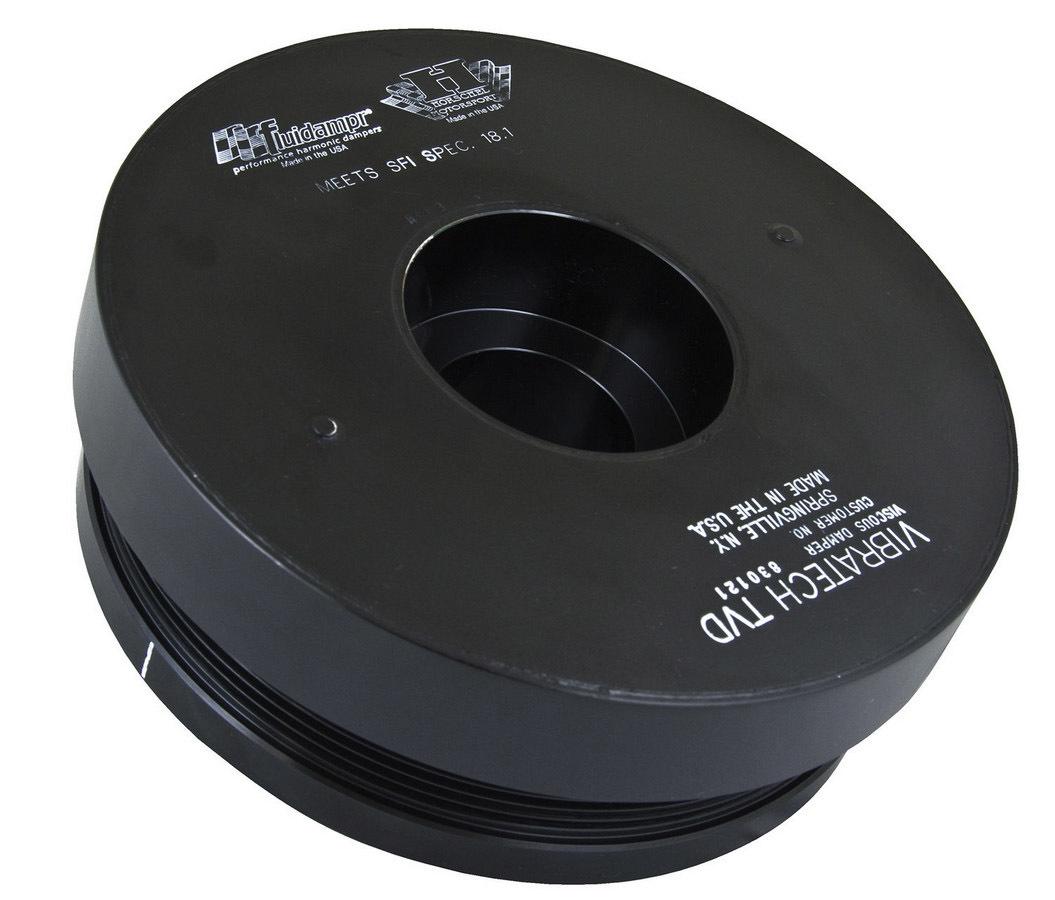 Fluidampr 830121 Harmonic Balancer, 8.375 in OD, Steel, Black, External Balance, GM Duramax, Each