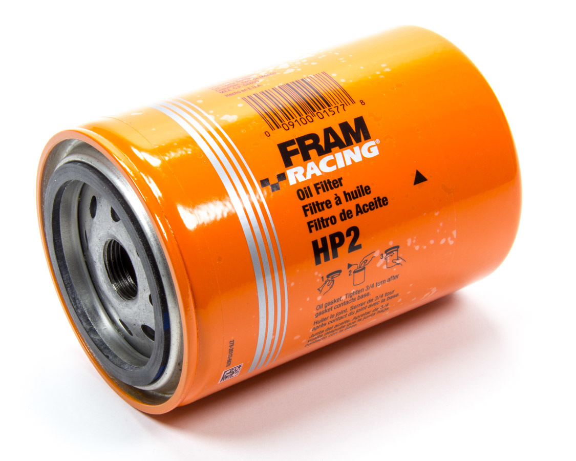 Fram HP2 Oil Filter, HP, Canister, Screw-On, 5.53 in Tall, 13/16-16 in Thread, Steel, Orange, Various Applications, Each