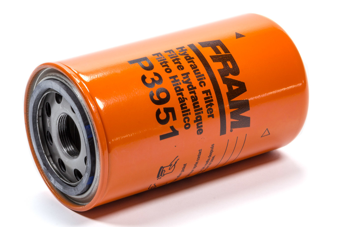 Fram P3951 Oil Filter, Hydraulic, Canister, Screw-On, 6.891 in Tall, 1-1/8-16 in Thread, Steel, Orange, Various Applications, Each