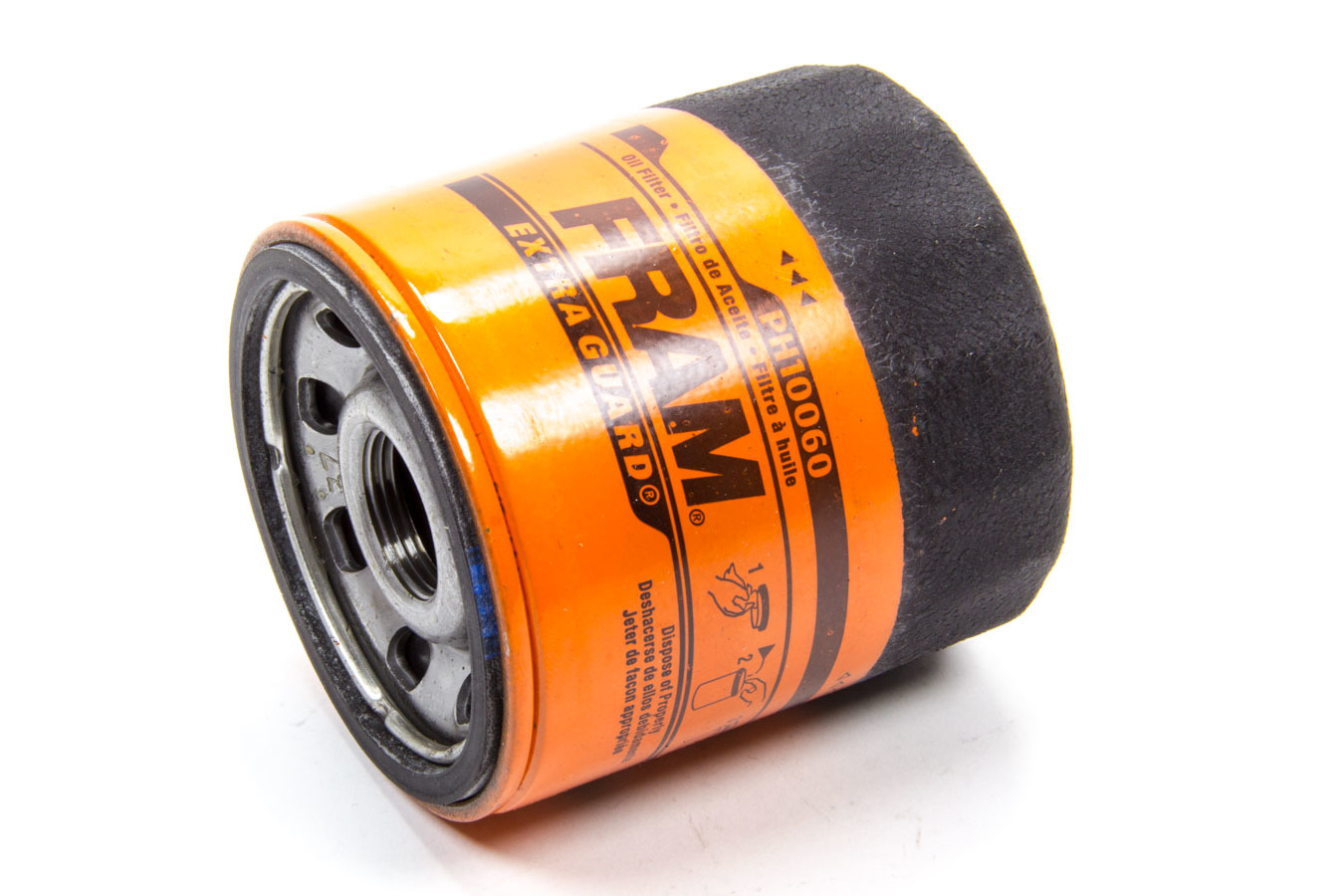 Fram PH10060 Oil Filter, Extra Guard, Canister, Screw-On, 3-1/3 in Tall, 22 mm x 1.50 Thread, Steel, Orange, Various Applications, Each