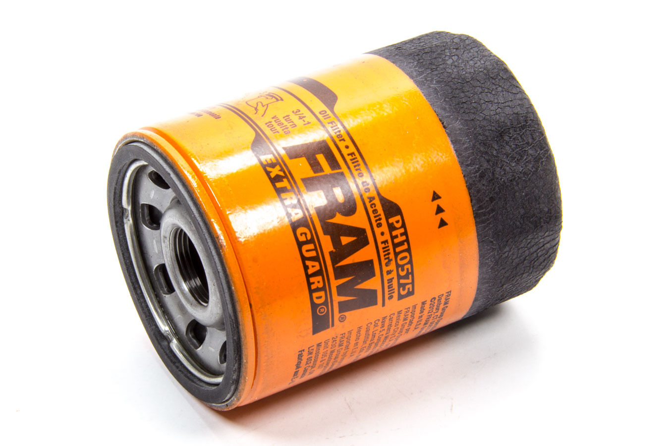 Fram PH10575 Oil Filter, Extra Guard, Canister, Screw-On, 4 in Tall, 22 mm x 1.50 Thread, Steel, Orange, Various Applications, Each