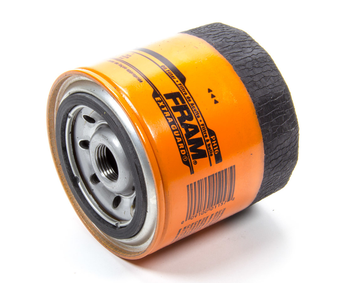 Fram PH16 Oil Filter, Extra Guard, Canister, Screw-On, 6-11/16 in Tall, 3/4-16 in Thread, Steel, Orange, Various Applications, Each