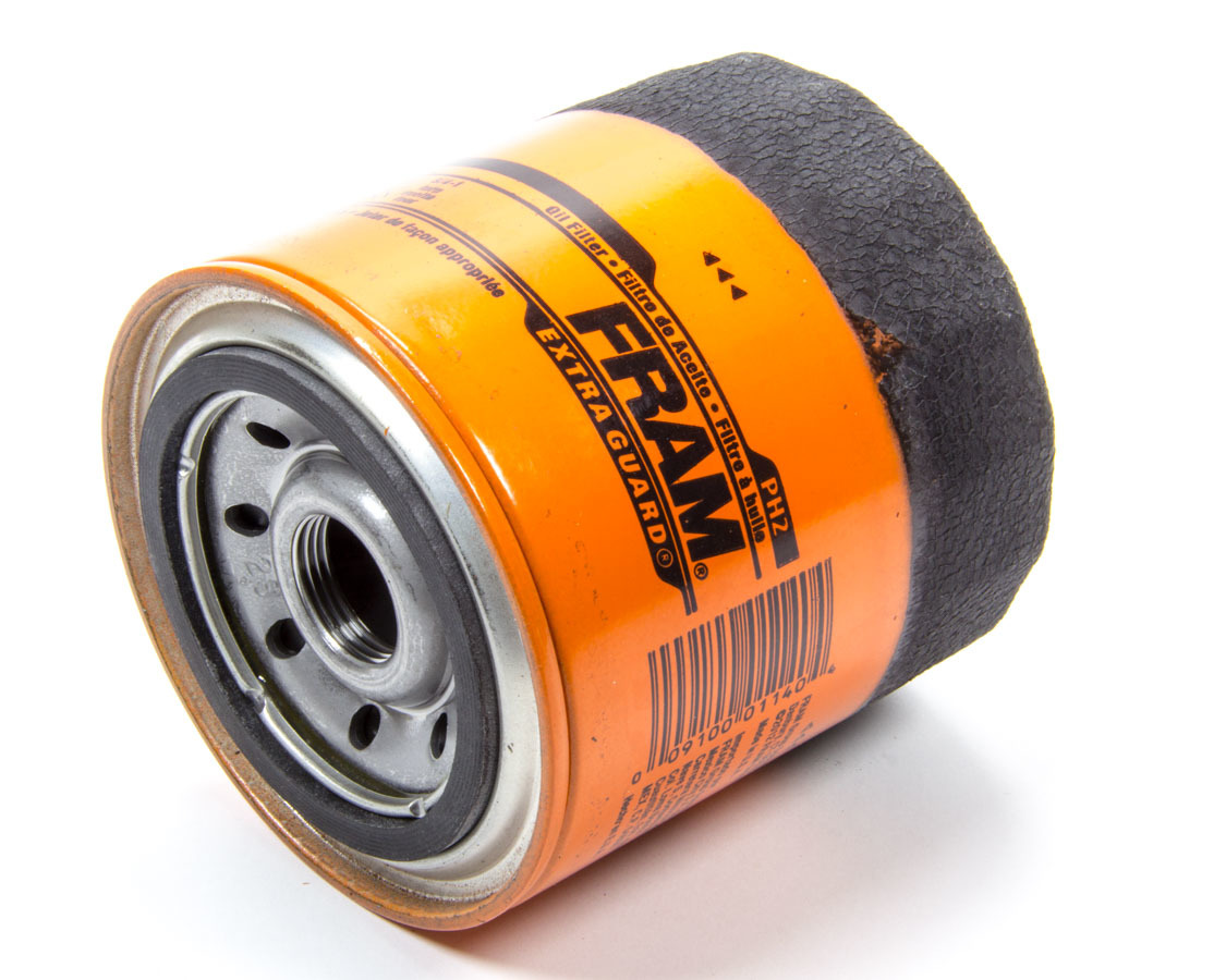 Fram PH2 Oil Filter, Extra Guard, Canister, Screw-On, 3.98 in Tall, 22 mm x 1.5 in Thread, Steel, Orange, Various Applications, Each