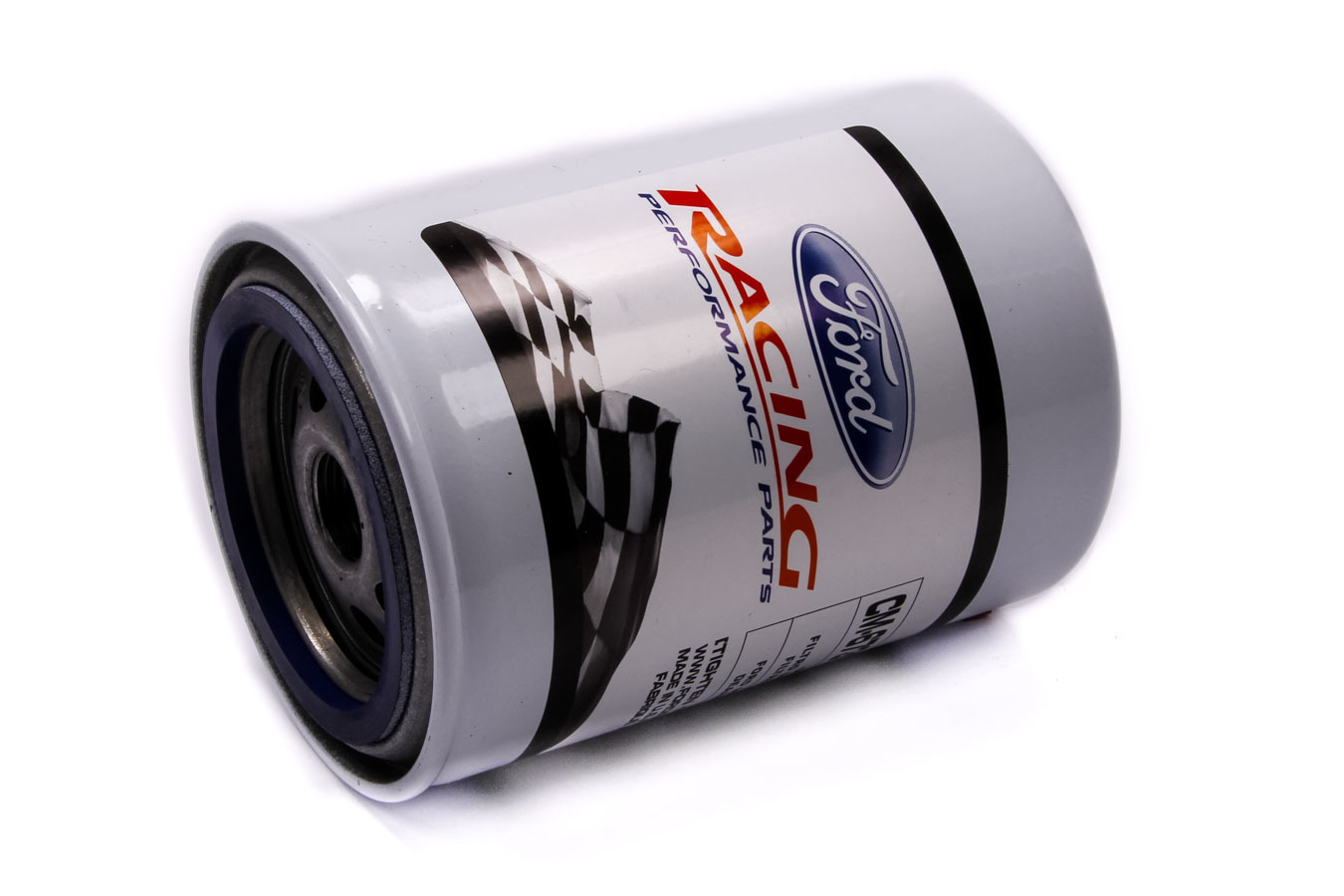 Ford CM6731-FL1A Oil Filter, High Performance, Canister, Screw-On, 13/16-16 in Thread, Steel, White, Ford, Each