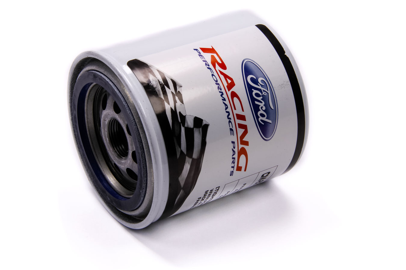 Ford CM6731-FL820 Oil Filter, High Performance, Canister, Screw-On, 22 mm x 1.50 Thread, Steel, White, Ford, Each