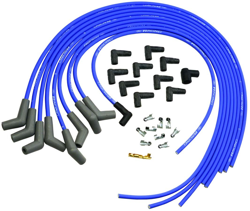 9mm Ign Wire Set-Blue