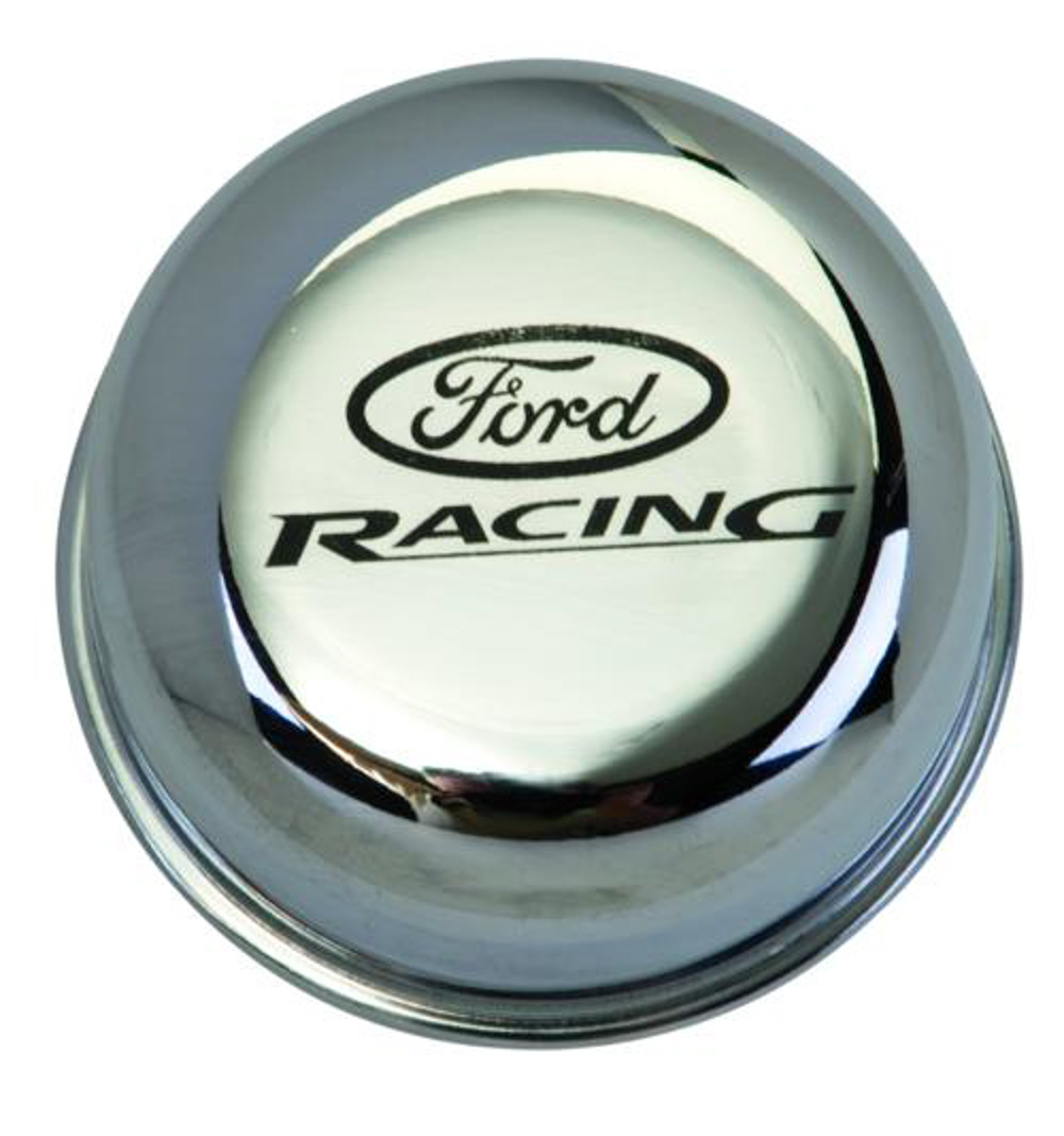Ford M6766-FRNVCH Breather Cap w/Ford Racing Logo, Chrome