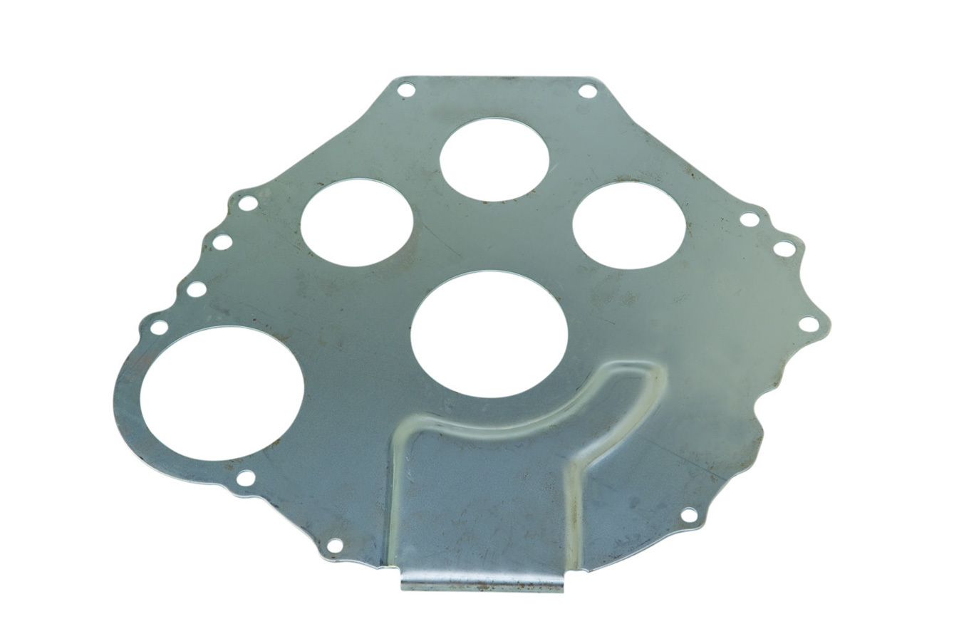 Ford M7007-B Bellhousing Plate, Separator, 0.080 in Thick, Steel, Natural, Manual Transmission, Small Block Ford, Each