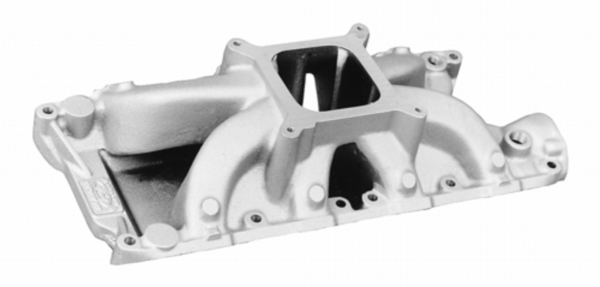 Ford M9424-D302 Intake Manifold, Victor JR., Square Bore, Single Plane, Aluminum, Natural, Small Block Ford, Each