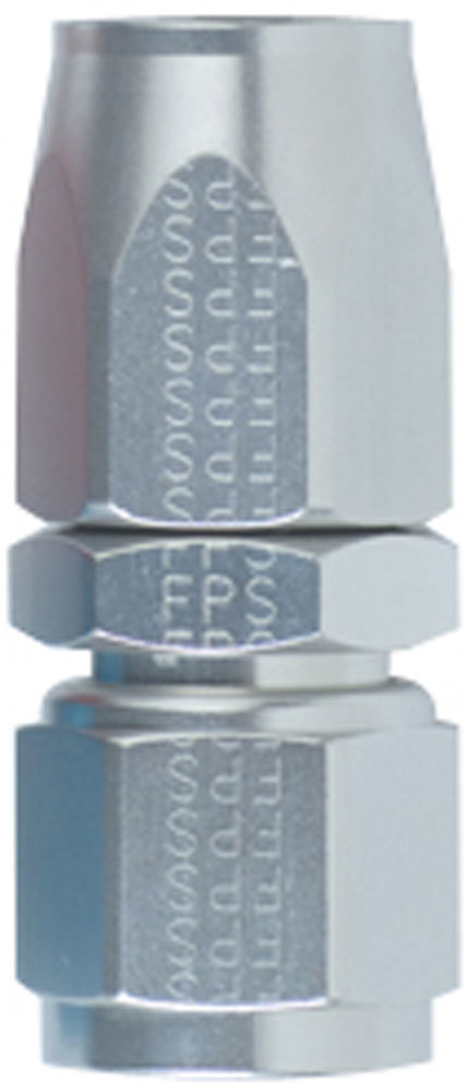 Fragola 100112-CL Fitting, Hose End, 3000 Series, Straight, 12 AN Hose to 12 AN Female, Swivel, Aluminum, Clear Anodized, Each