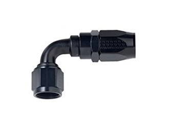 Fragola 109004-BL Fitting, Hose End, 3000 Series, 90 Degree, 4 AN Hose to 4 AN Male, Aluminum, Black Anodize, Each
