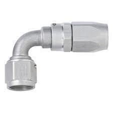 Fragola 109004-CL - #4 x 90 Power Flow Hose End - Clear
