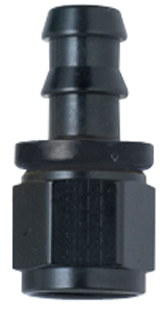 Hose Fitting #8 Straight Push Lock Black